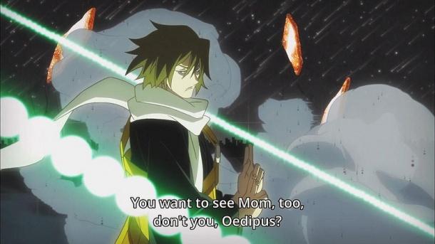 Kyousougiga / Capital Craze anime episode 6 - Myoue the younger is angry
