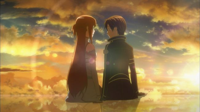 Kirito, Asuna, Sword Art Online, Aincrad