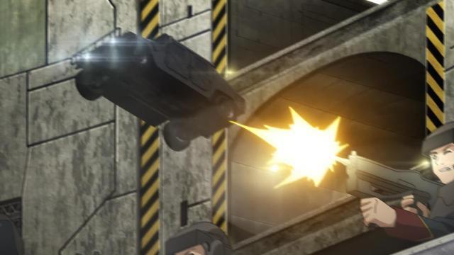 Aldnoah.Zero anime episode 11 - The jumping jeep