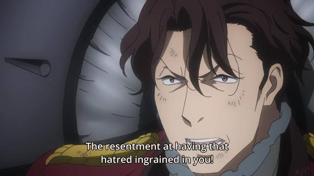 Aldnoah.Zero anime episode 12 notes - Count Saazbaum hates himself