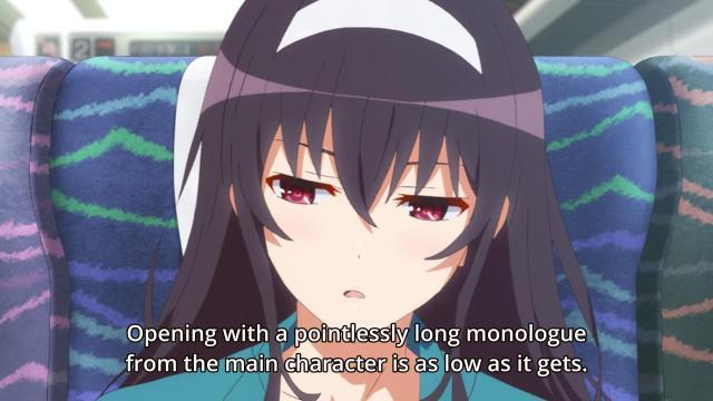 Saekano / Saenai Heroine no Sodatekata anime episode 1 overview - Meta-discussions