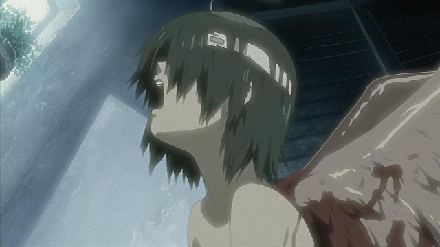 Haibane Renmei anime - Rakka's birth