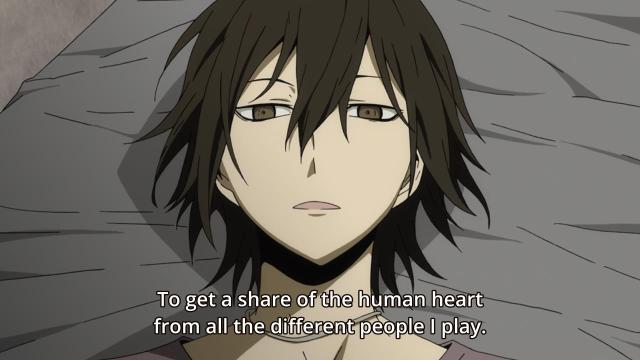 Durarara!! X2 Shou anime review - Heiwajima Kasuka AKA Hanejima Yuuhei wants to be human