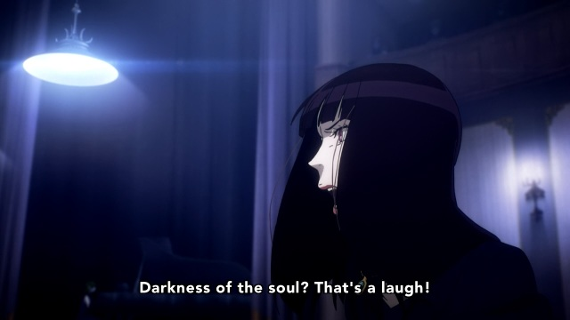 Death Parade anime episodes 8-9 - Onna is angry