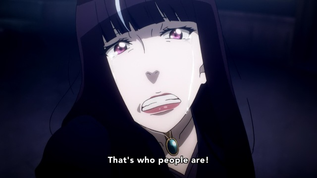 Death Parade anime episode 9 notes - Onna explains humans are just that simple