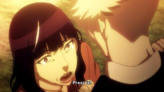 Death Parade anime episode 12 notes - Chiyuki begs Decim