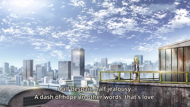 Durarara!! x2 Shou episode 8 anime - Varona describes love