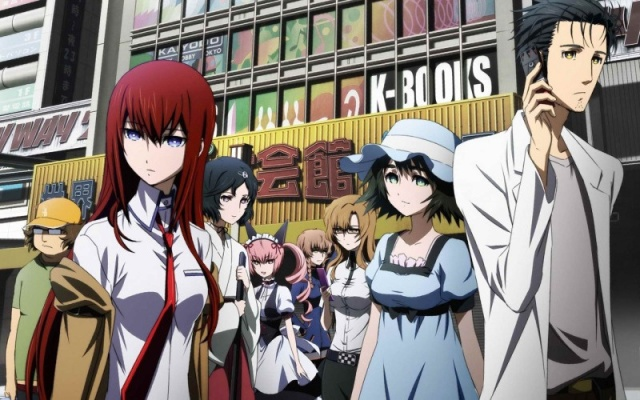 Steins;Gate anime - an anime about time travel, based on a visual novel