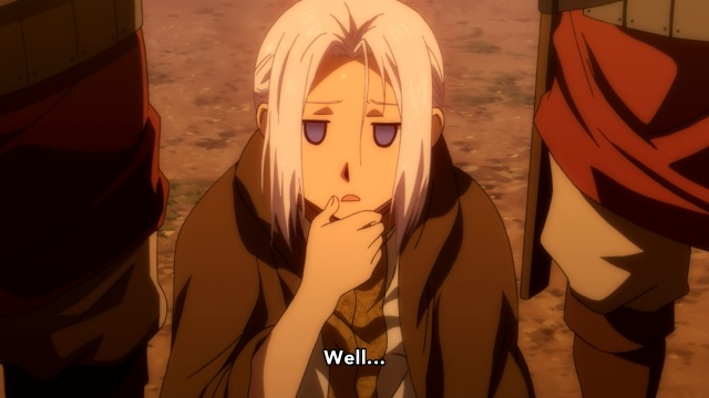 Arslan Senki / The Heroic Legend of Arslan anime episode 1 - Prince Arslan is not impressed