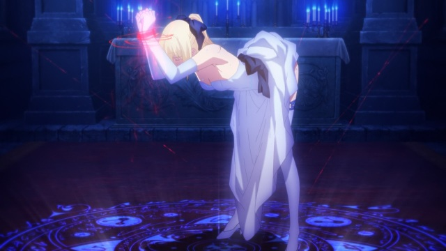 Fate/Stay Night Unlimited Blade Works (TV) anime episode 13 notes - - Captive Saber