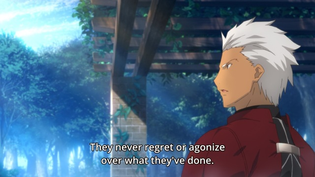 Fate/Stay Night Unlimited Blade Works (TV) anime episode 13 notes - Archer's no regrets