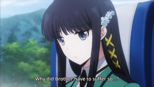 Mahouka Koukou no Rettousei anime episode 9 notes / The Irregular at Magic High School anime episode 9 notes - Shiba Miyuki thinks only of her brother