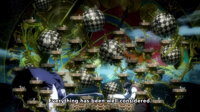 Kekkai Sensen / Blood Blockade Battlefront anime episode 3 - Klaus plays space chess