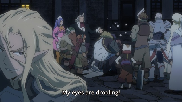 Log Horizon S2 Episode 25 anime notes - Demikas's drooling eyes