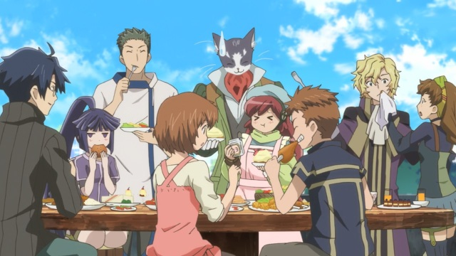 Log Horizon S2 Episode 25 anime notes - Everyone's eating