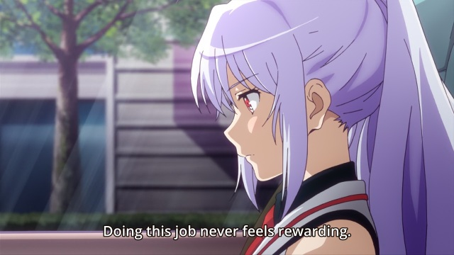 Plastic Memories episode 1 anime - Unrewarding work