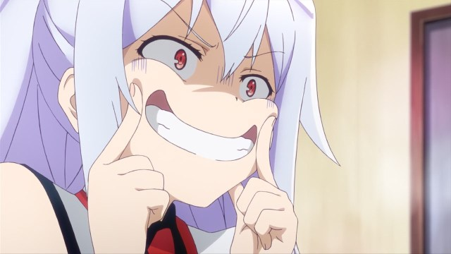 Plastic Memories anime episode 4 - Isla tries to smile