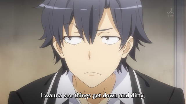 OreGairu S2 episode 1 anime - Hikigaya Hachiman's inner thoughts