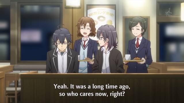 OreGairu S2 episode 3 anime notes - Orimoto Kaori doesn't care about past wounds
