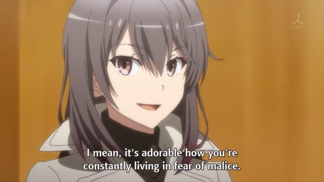 OreGairu S2 episode 4 anime - Yukinoshita Haruno sees right through Hikigaya Hachiman