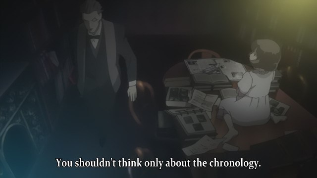 Baccano! anime review - Gustav St. Germain and Carol discuss the chronology of stories,