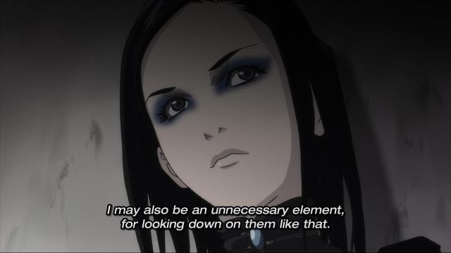 Ergo Proxy anime episode 1 - Re-L Meyer looks down on others