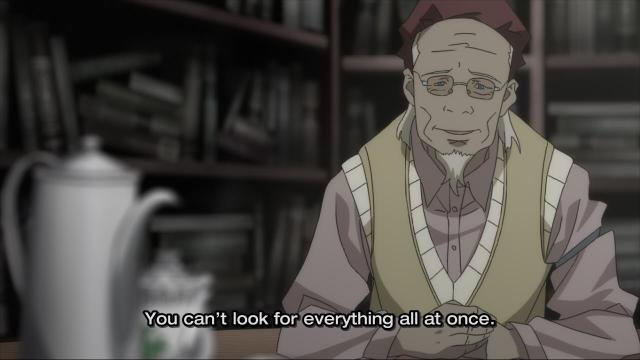 Ergo Proxy anime episode 11 - The memory keeper gives sage advice