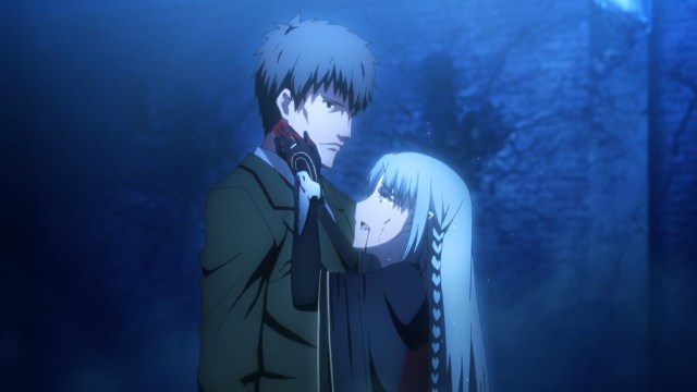 Fate Stay Night - Unlimited Blade Works episode 17 - Caster bids farewell to Kuzuki Shouichirou