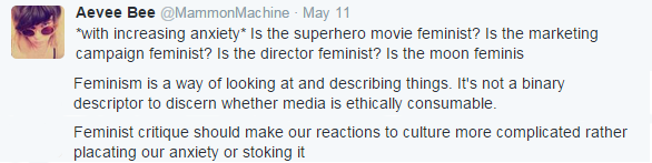"MammonMachine on ""Is this feminism?"""