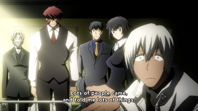 Kekkai Sensen / Blood Blockade Battlefront anime episode 6 - Leonardo Watch just gets told things