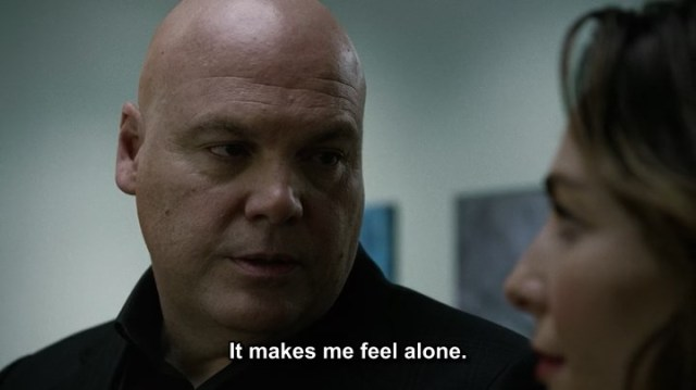 Daredevil (Netflix) Wilson Fisk and Vanessa - Fisk feels lonely