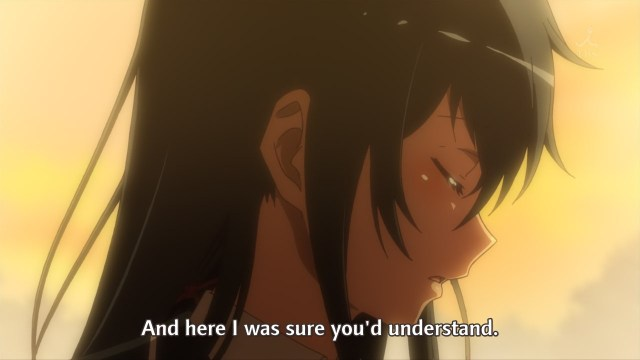 OreGairu S2 episode 5 anime - Yukinoshita Yukino thought Hikigaya Hachiman would understand her