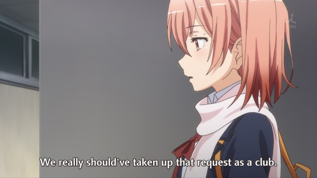OreGairu S2 episode 7 anime - Yuigahama Yui speaks of her club's lack of cohesion