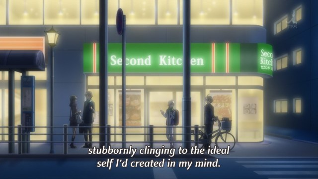 OreGairu S2 episode 7 anime - Hikigaya Hachiman admits his ideal self is a lie