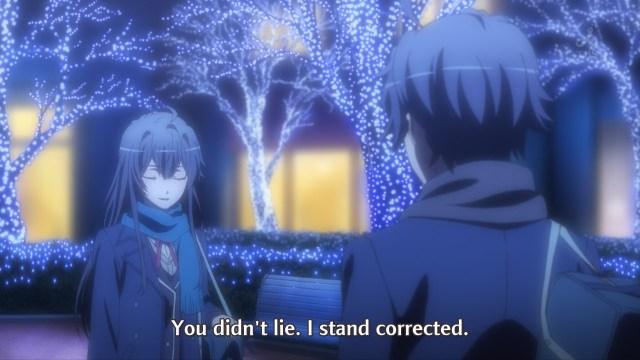 OreGairu S2 episode 7 anime - Yukinoshita Yukino and Hikigaya Hachiman cold correctness