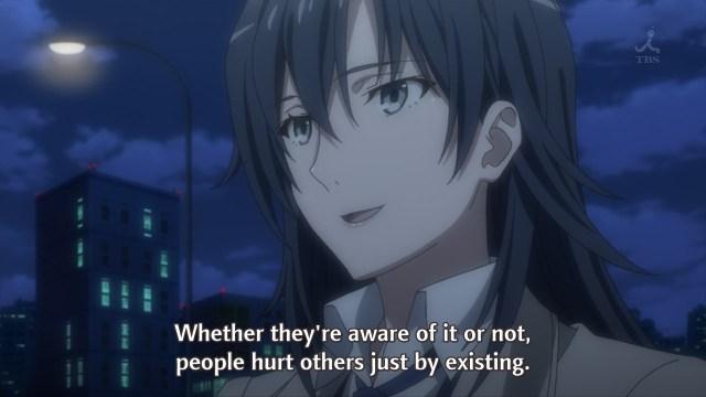 OreGairu S2 episode 8 anime - Hiratsuka Shizuka Sensei discusses hurtful relationships - all of them