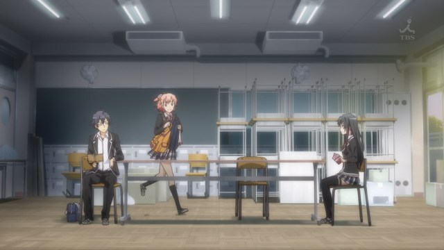 OreGairu S2 episode 9 anime notes - Yuigahama Yui is excited the club's together