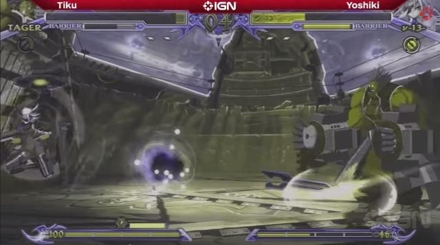 BlazBlue Chrono Phantasma Evo 2014 Iron Tager Tiku versus Yoshiki Mu-13