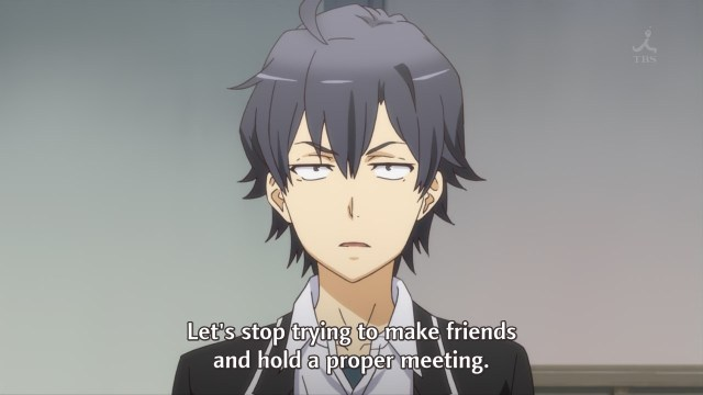 OreGairu S2 episode 10 anime notes - Hikigaya Hachiman doesn't need friends