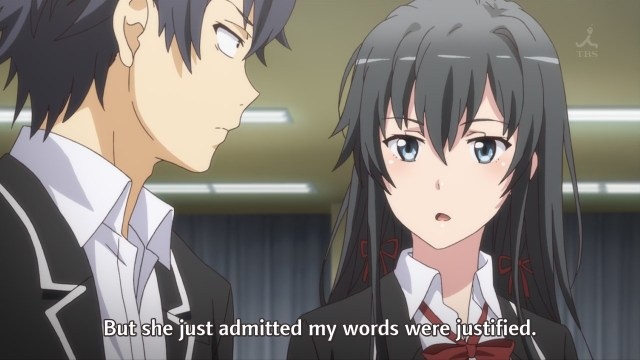 OreGairu S2 episode 10 anime notes - Yukinoshita Yukino and Hikigaya Hachiman discuss criticism