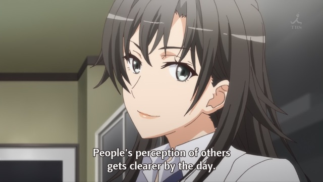 OreGairu S2 episode 12 anime - Hiratsuka Shizuka sensei on understanding others