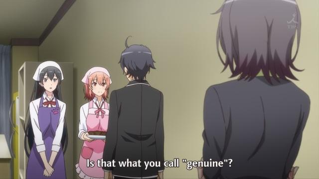 OreGairu S2 episode 12 anime notes - Yukinoshita Haruno sends her barbs at Hikigaya Hachiman and his friends