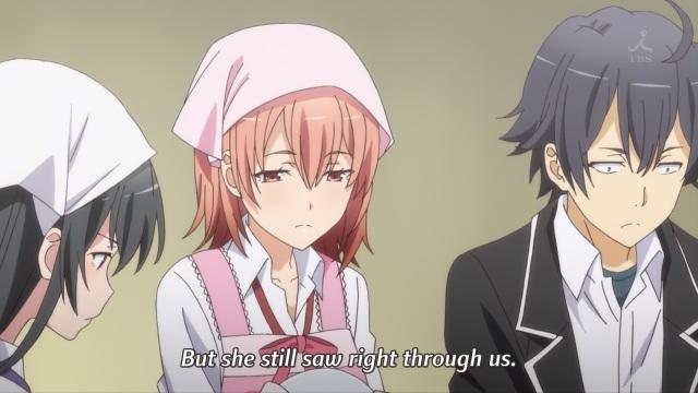 OreGairu S2 episode 12 anime notes - Hikigaya Hachiman, Yukinoshita Yukino and Yuigahama Yui have been slain by Yukinoshita Haruno