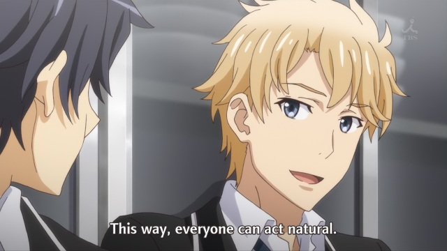 OreGairu S2 episode 12 anime notes - Hayama Hayato tells Hikigaya Hachiman he approves of his methods