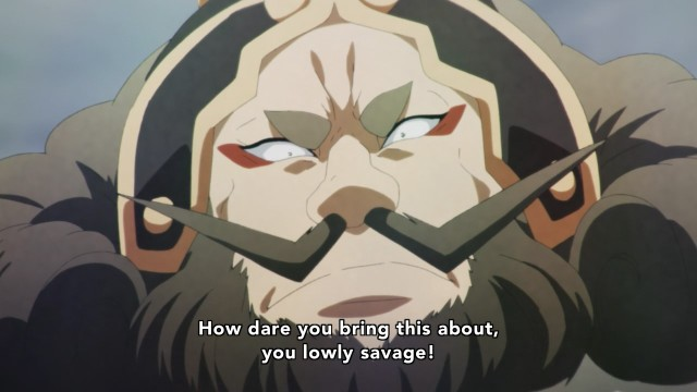 Chaos Dragon anime episode 1 overview - Mustache man looks down on others