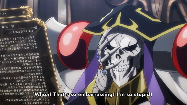 OverLord anime episode 1 - Mononga is the cutest overlord