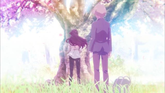 Beautiful Bones - Sakurako's Investigation/ Sakurako-san no Ashimoto ni wa Shitai ga Umatteiru anime episode 1 - Tatewaki Shoutarou beholds the fey Kujo Sakurako