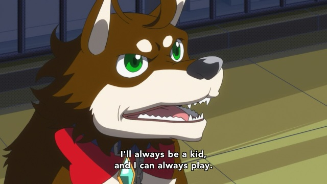 Concrete Revolutio: Choujin Gensou anime Episode 2 notes - Dog Fuurota says he'll never grow up