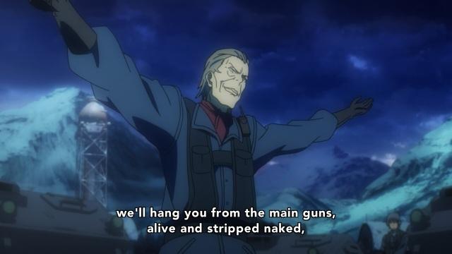 Heavy Object anime Episode 3 - Crazy religious leader