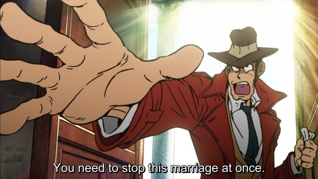 Lupin III (2015) anime Episode 1 - Zenigata tries to stop Lupin's wedding
